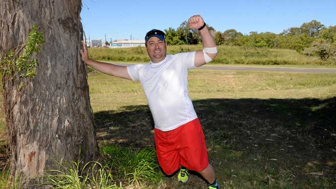 KICK THE KILOS: Deon Cavanagh has lost forty kilograms and is working hard to shed more.