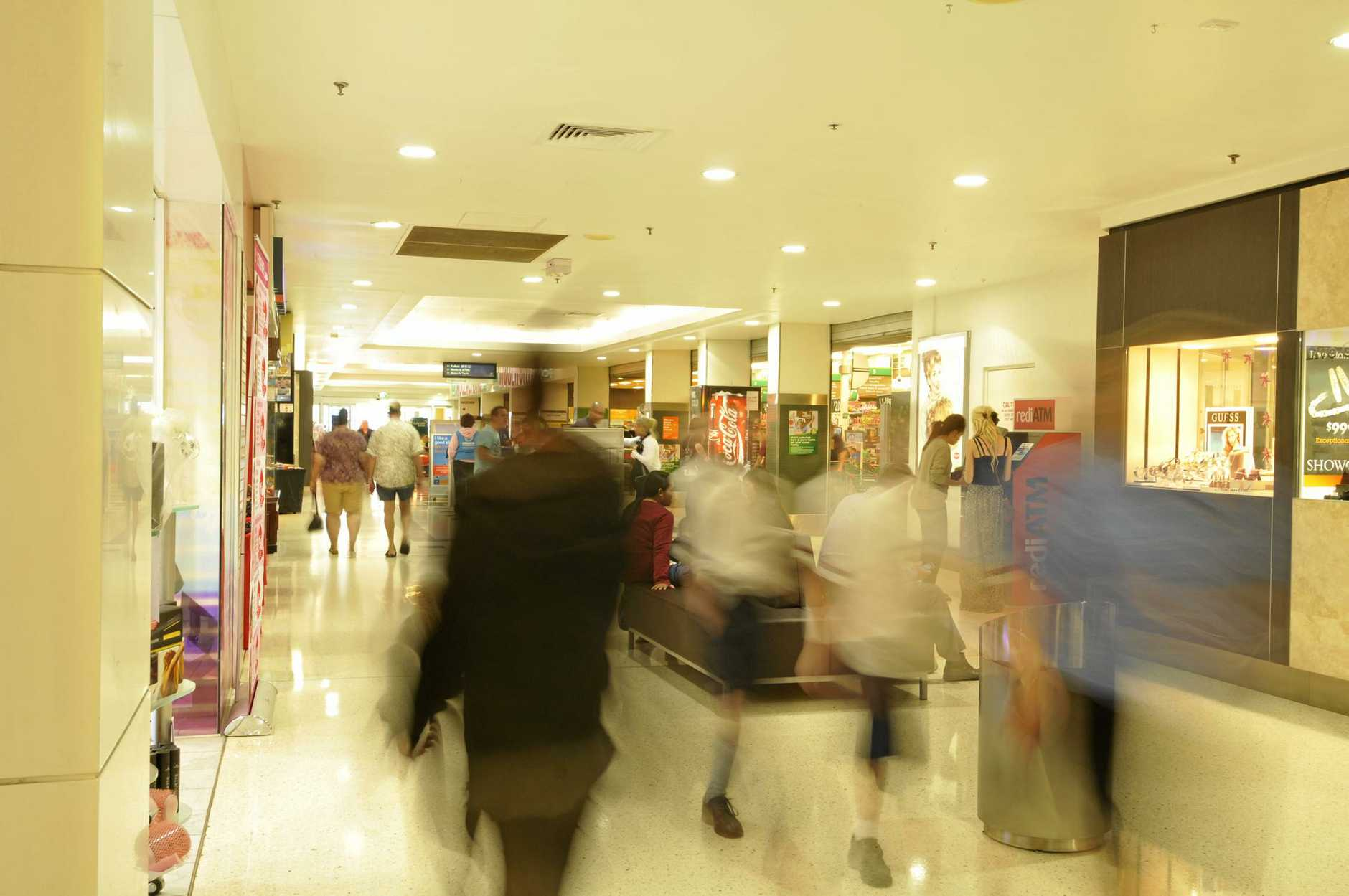 Future Population Growth in Queensland/Gladstone region: Shoppers at Stockland Gladstone, Dawson Highway.  Photo Chrissy Harris/The Observer