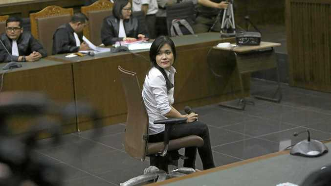 Jessica Kumala Wongso sits on the defendant's chair during her trial hearing at Central Jakarta District Court in Jakarta this week.
