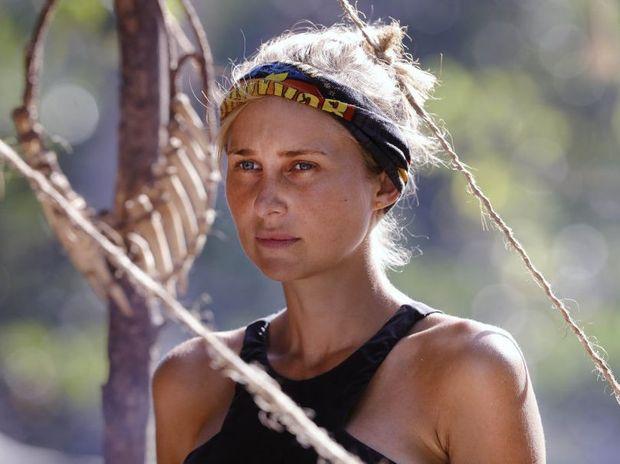 Jennah-Louise Salkeld pictured in a scene from Australian Survivor.