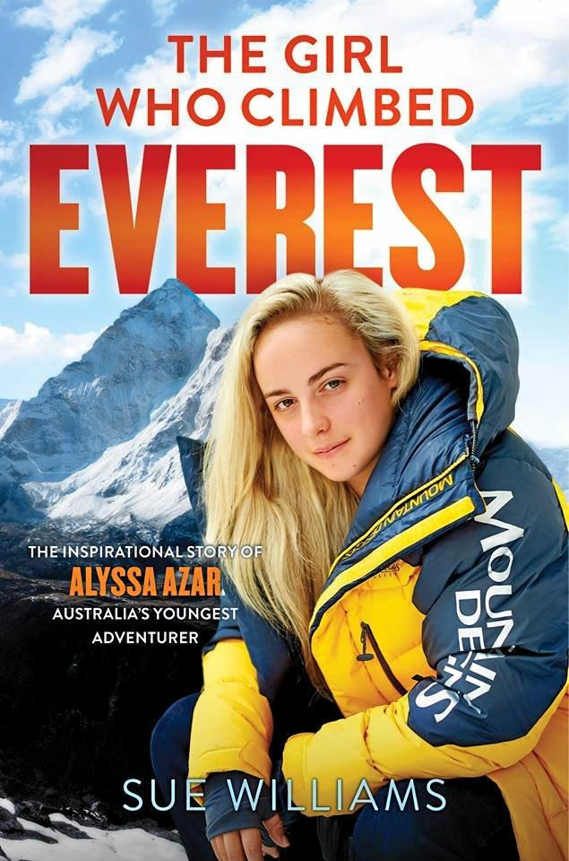Alyssa Azar unveiled the cover of her book The Girl Who Climbed Everest on her Facebook page today. It's due for release in September.