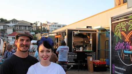 COLLECTIVE: Kat Creasey and her partner Matt at one of their famous pop-up markets.