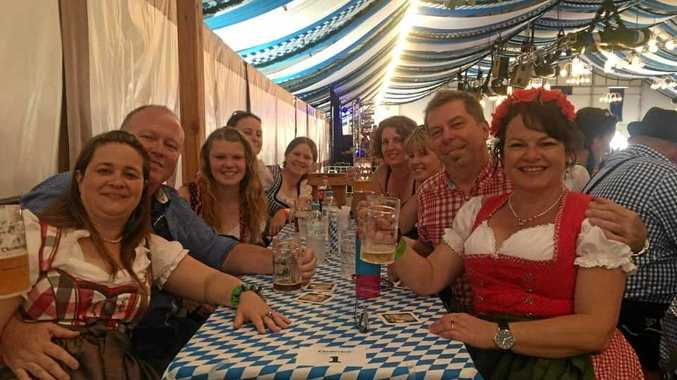 CELEBRATING: Some of Active Tours and Transfers happy customers enjoying a tour to Oktoberfest.
