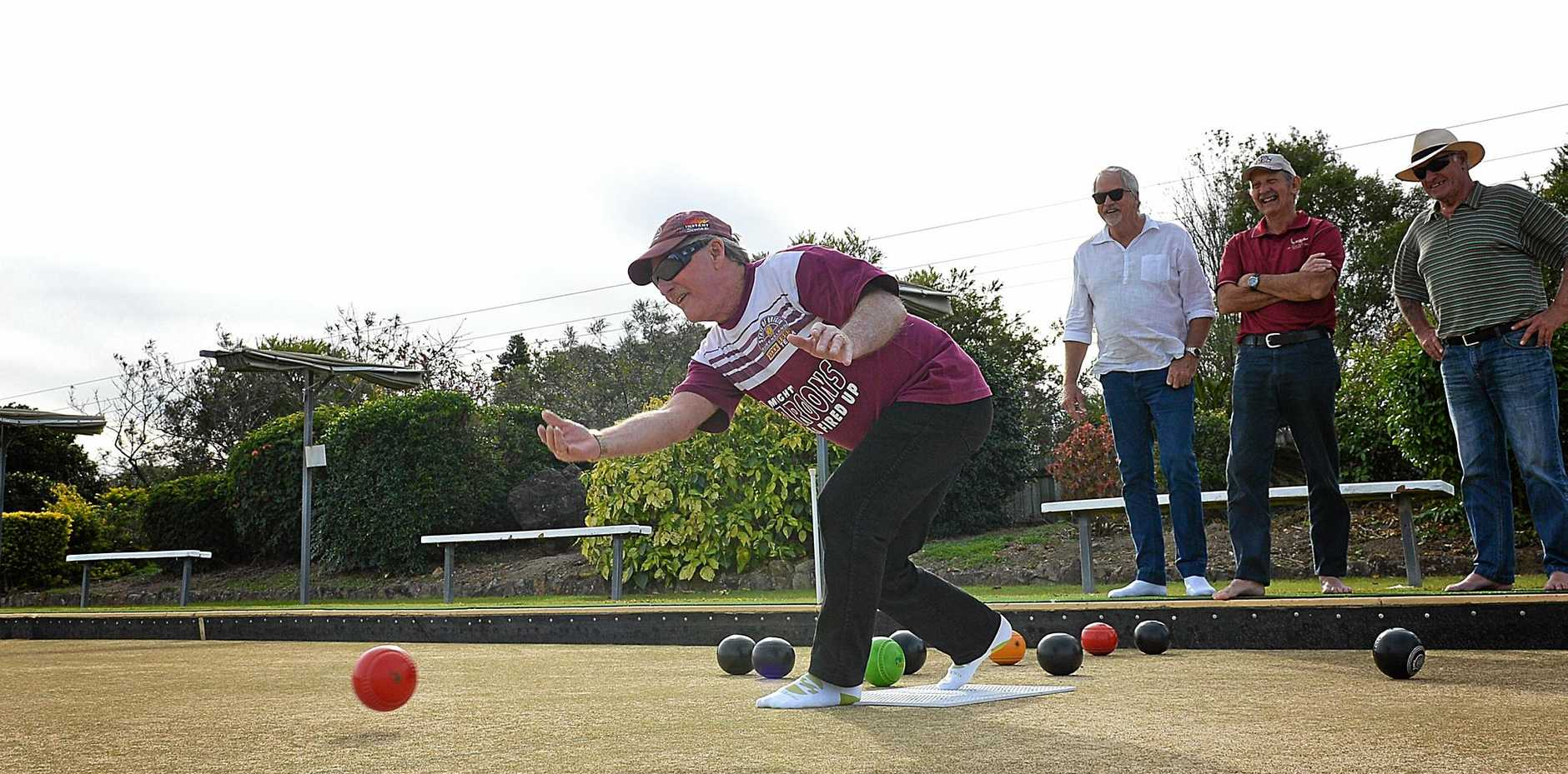 FUN TIMES: Come along and try bowls just like Graham McCormack who is pictured here playing social bowls at Gympie Bowls Club in July.