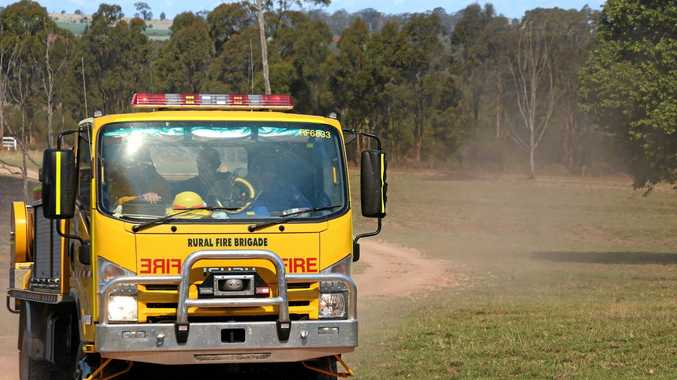 Firefighters attend to two fires in the South Burnett.