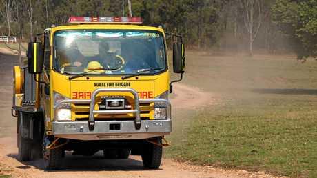 Fire truck. September 12, 2014.  Photo Tessa Mapstone / South Burnett Times