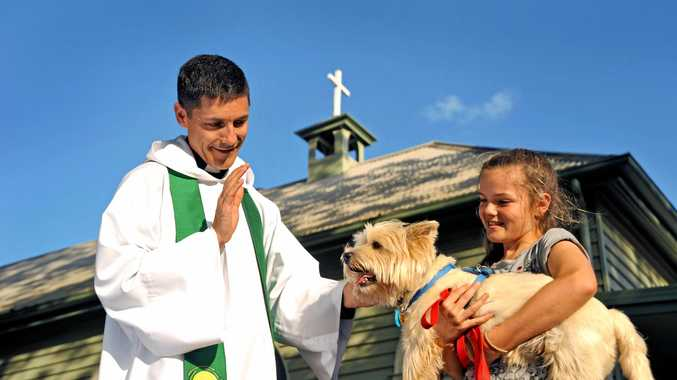 Get your pet blessed this Sunday.