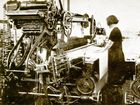 The weaving loom and the Queensland Woolen Manufacturing Co in the 1930s.