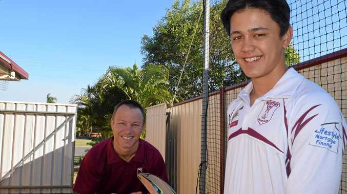 RISING STAR: Jaden Bond says his love of cricket began in the backyard with dad Julian.