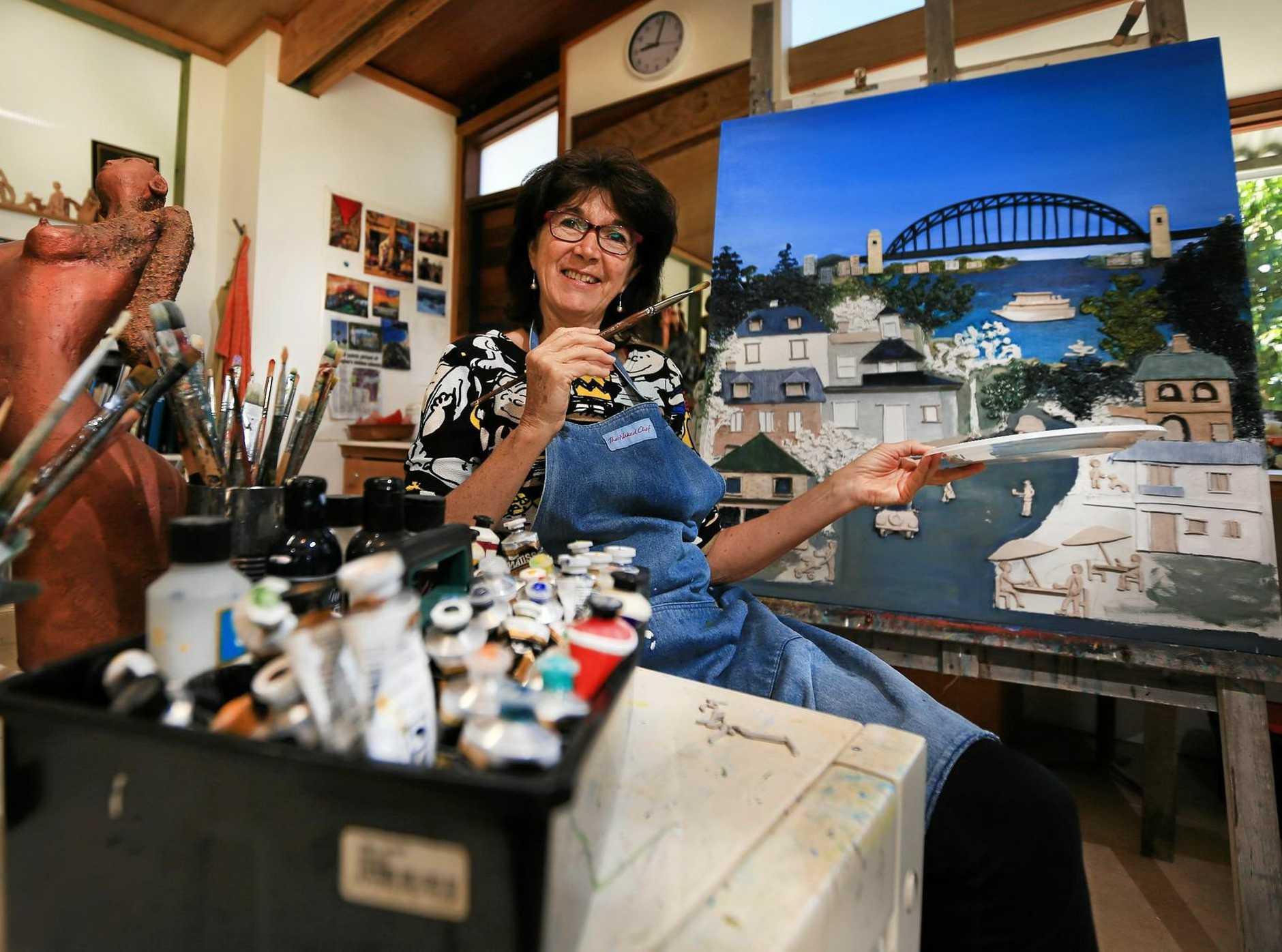 SERENE IMAGE: Sculpting artist Marie-Frace Rose prepares her Uki studio for Tweed Fusion Festival.