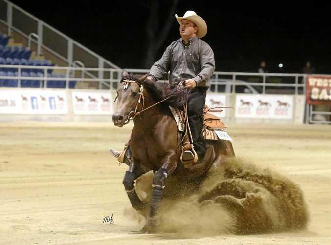 Horse owner Ben Ryan and Pekarra Dazzling Deputy.