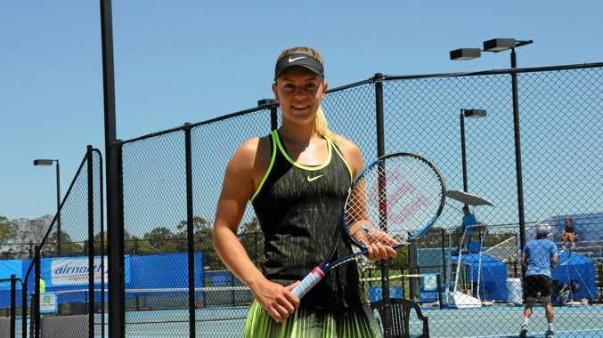 ON TRACK: Hungary's Dalma Galfi has won through to today's Toowoomba International semis.