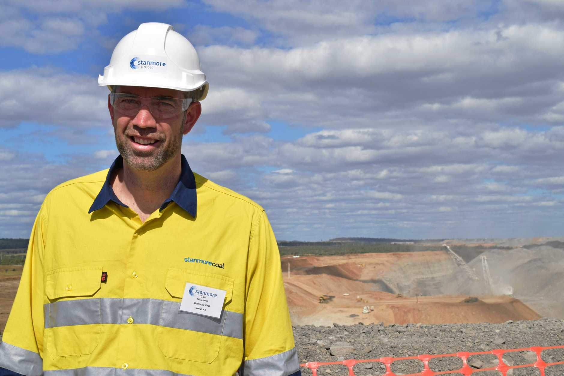 Stamore Coal's managing director Nick Jorss at the Isaac Plains coal mine yesterday. Photo: Emily Smith