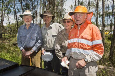 Owen Benn, Michael Hill, Coral Scharrock, Ray Addison at the open day.