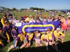 Cancer survivors, thier carers and the Relay for Life comitee at the Proserpine Showground on Saturday.