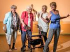 "Eva Coutts, Pat Hewitt, Jackie Carstairs and Anne Hewitt get into the groove of the ""Ageing Ravers"" at the GDSC."