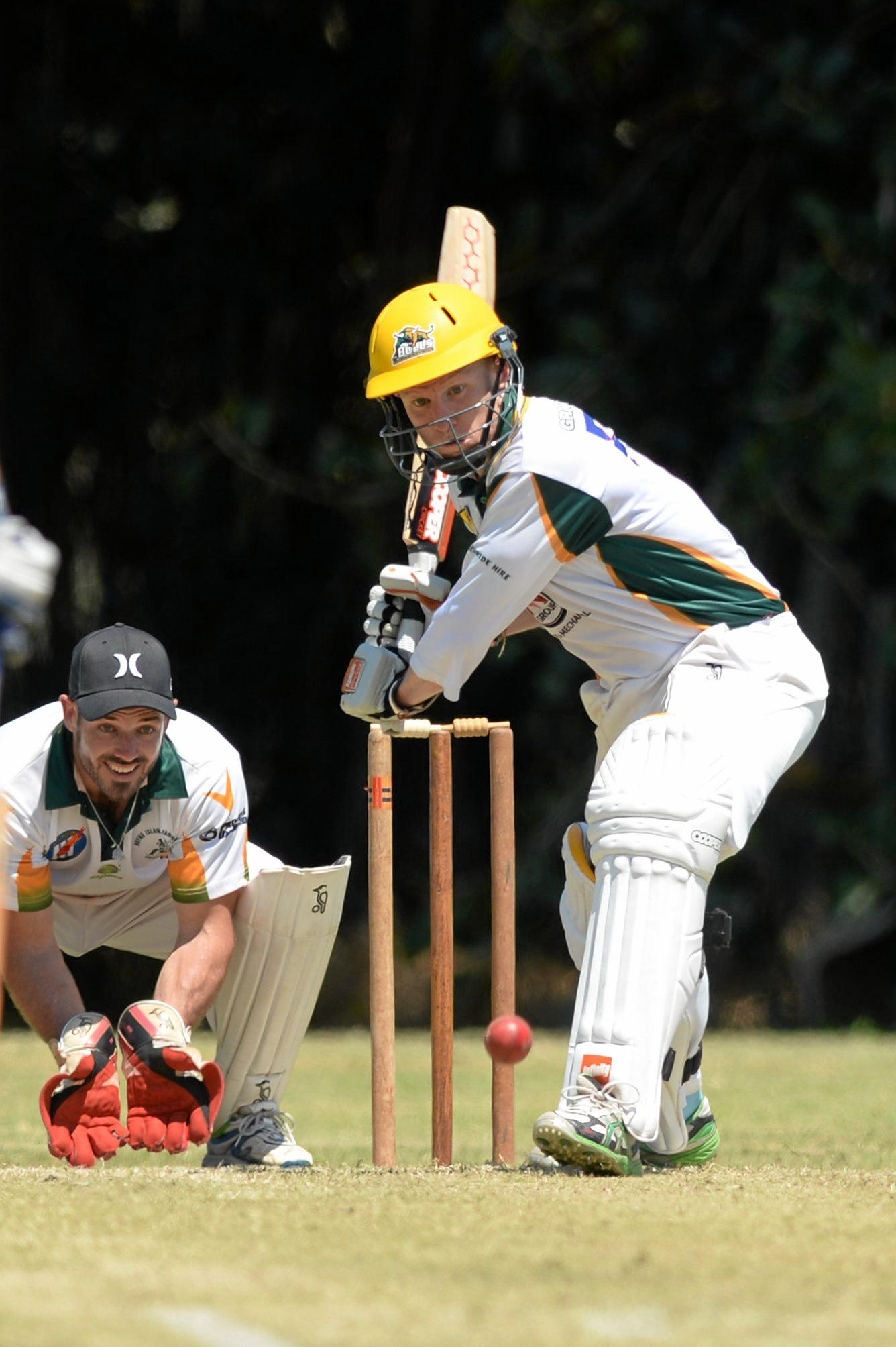 Cricket: Gracemeres' Todd Harmsworth against BITS.