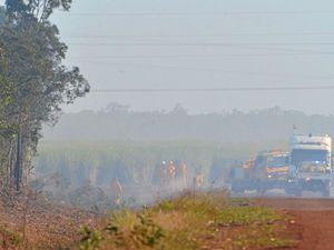 Seven crews needed to fight Kentucky Bluegrass fire