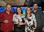 L-R Mitch Trahair, Caitlin Armstong, Cassandra Riley and Damien McCarthy at Flamingo's On Quay. Photo Liam Fahey / Morning Bulletin