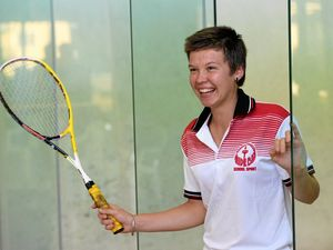 FACES OF BUNDY: Squash star Claire's holding court