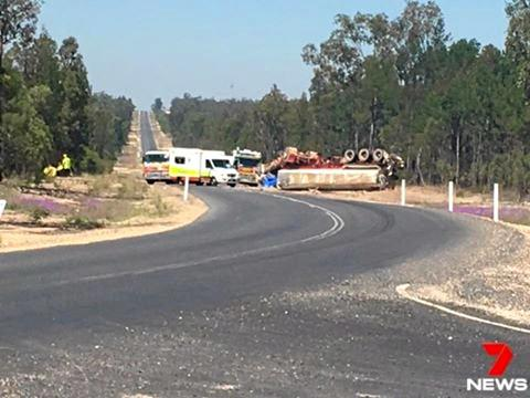 A man has been killed in a truck roll over on the Western Downs. 7 News Toowoomba.