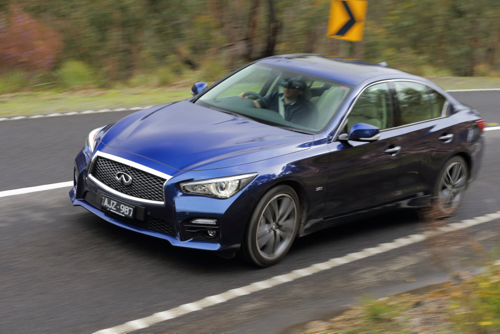 WEAPON OF CHOICE: Infiniti introduces a new rear-wheel drive performance player with its 298kW Q50 3.0tt Red Sport.