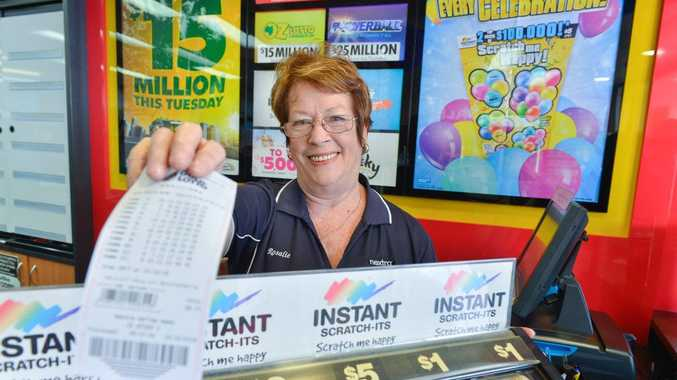 Nextra Valley Newsagency owner Rosalie McPherson was over the moon on Sunday when she found out either her, Georgie Geljon or Jenay Lindner had sold a $1.96 million lotto ticket.