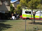 Emergency services at the scene of a stabbing in Maryborough.