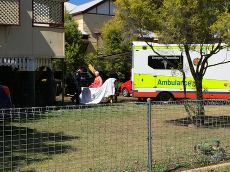 A Maryborough woman was injured in an alleged stabbing.