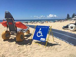 Disabled beach access at Burleigh
