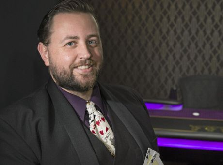 Lights Camera Action Poker founder Tom Bower says he operates Australia's first poker training, education and film studio, Monday, October 10, 2016.