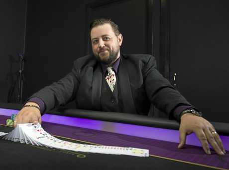 Lights Camera Action Poker founder Tom Bower says he operates Australia's first poker training, education and film studio.