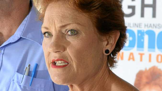 Pauline Hanson and One Nation Wright candidate Rod Smith.Photo: Rob Williams / The Queensland Times
