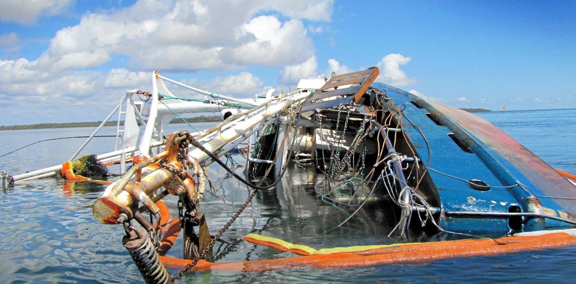 The Moray shipwreck off Tin Can Bay.    PHOTO: CASSIE CASSARAZZI - RAINBOW BEACH