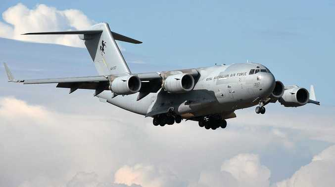 BIG BIRD: A RAAF C-17 aircraft has been spotted overe Evans Head.