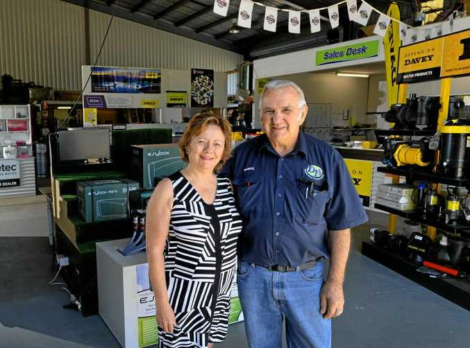DJ's Electric Motor and Pump Centre owners Janet and Darryl Trapp.