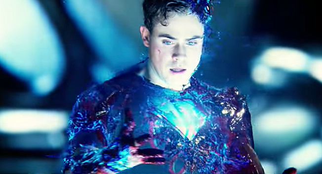 Dacre Montgomery in a scene from the movie Power Rangers.