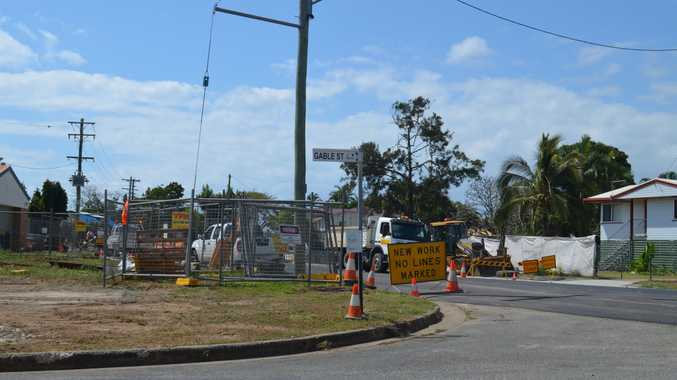 Roadworks on Shakespeare St, East Mackay.
