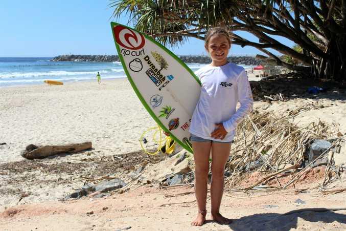 SURF'S UP: Quincy Symonds at Duranbah.