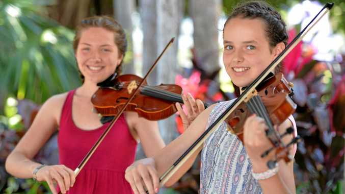Ditte Sjoegren and Sinead Kennedy perfomed in the Any Two Instruments Secondary School Students section at the Mackay Eisteddfod.
