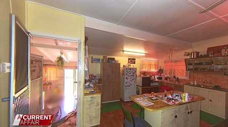 The kitchen where Brownlow took a knife for her son Corey to stab Mr Behrendorff.