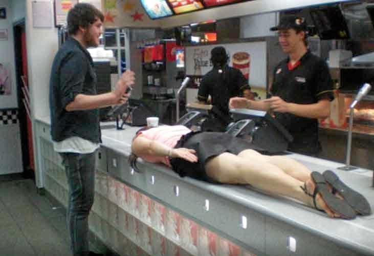 Planking at McDonalds.