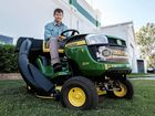 GREAT CATCH: Vanderfield Chinchilla branch manager Damian Bourke with the John Deere D125 lawn tractor up for grabs in this year's CCCI Town Proud buy local competition, valued at $5000.