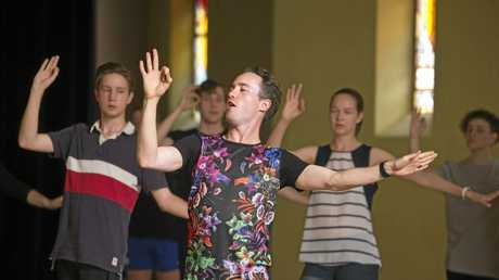TRY OUT: Choreographer George Canham (front) takes the dance auditions for the Empire Theatre's production of Wicked.