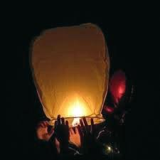 A Chinese lantern, somtimes mistaken for a UFO.
