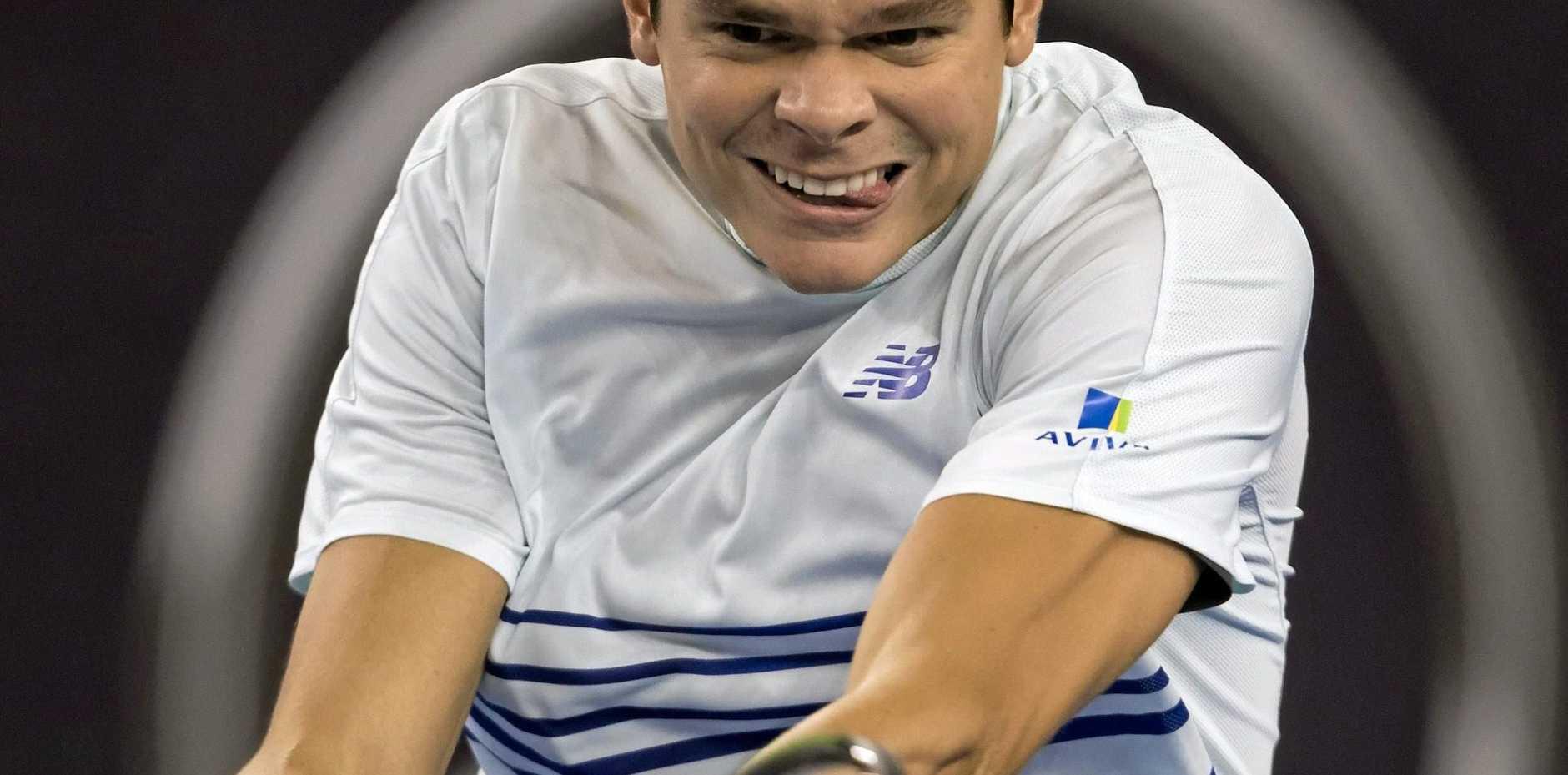 RETURNING: Canada's world No.6, Milos Raonic, will defend his Brisbane International title.