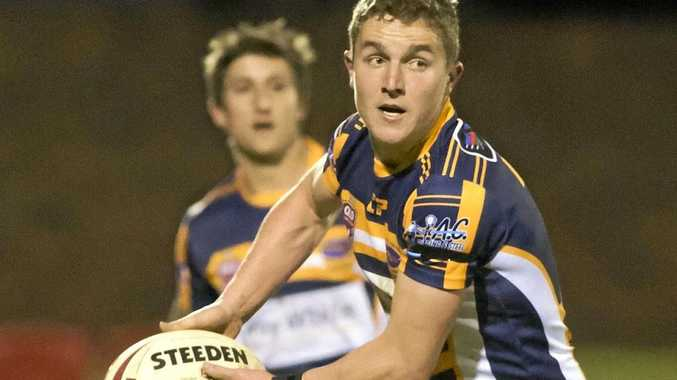 GREAT SEASON: Jarrod Lee plays for Highfields in the TRL semi-finals during a busy year for the halfback.