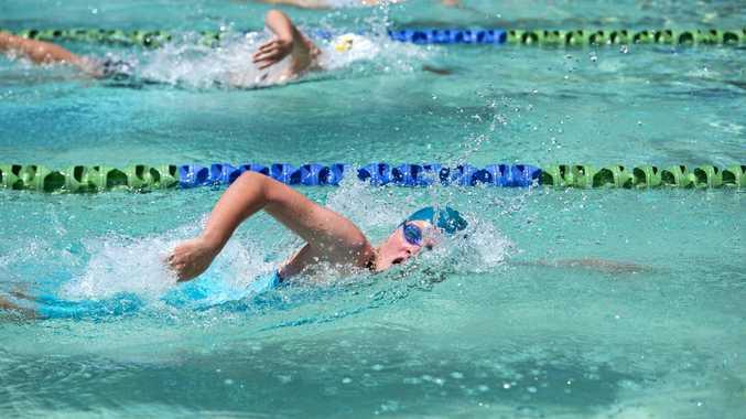 Millie Hinz, 11 Boyne/Tannum. Gladstone Swimming Sprints at Wests Swimming Club.
