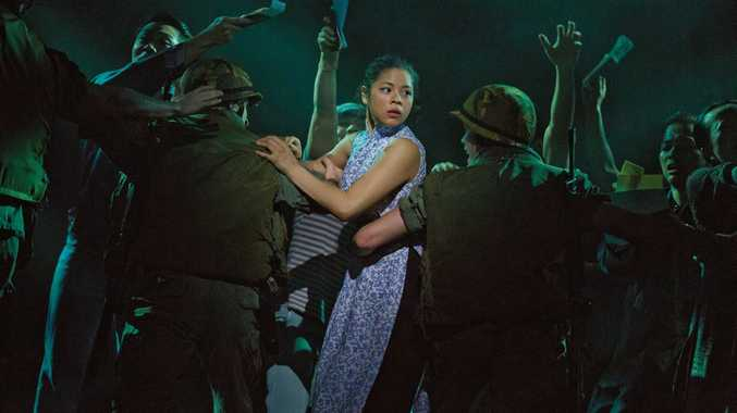 Eva Noblezada as Kim in a scene from the movie Miss Saigon.