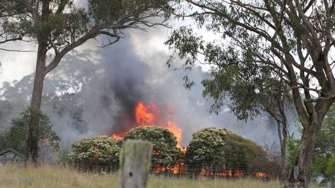 A house on Eukey Rd was devastated by fire on Wednesday, October 12.